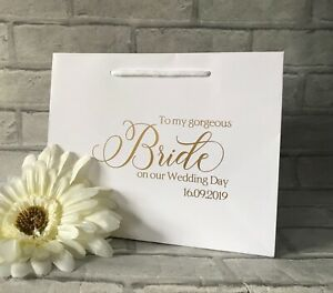 Personalised Bride Wedding Gift Bag, Bride Gift, Wedding Morning Gift