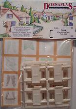 Dornaplas B1 - 20 x  4 Panel Doors 00 Gauge Plastic Detail Kit - 1st Class Post