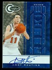 2010-11 Totally Certified Blue Autographs #185 Andy Rautins Jersey Auto /49
