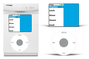Dry Erase MP3 Player Decals For Samsung Dishwasher Classic Music Stickers iPod