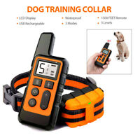 1500 FT Remote Dog Shock Training Collar Rechargeable Waterproof LCD Pet Trainer