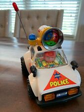 Vintage Toy Police Car Battery Operated Lights Sounds W Siren Hong Kong RARE 9""