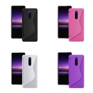 Case For Sony Xperia 1 S-Line Silicone Gel Skin Tough Shockproof Phone Cover