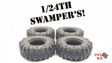 """1/24th Swamper tires only! Fits 1"""" rims rock crawler r/c Axial ECX  Free Ship!!"""