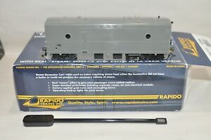 HO scale Rapido UNDECORATED Steam Generator passenger car train