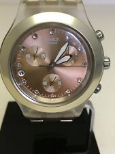 Swatch Irony Watch Diaphane Full-Blooded Caramel Chrono Excellent Used Condition