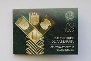ESTONIA - 2 € Euro common commemorative coin 2018 Baltic states 100 BU COINCARD