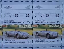1954 PORSCHE 550 SPYDER (550-06) Car 50-Stamp Sheet / Leaders of the World