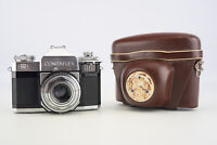 Zeiss Contaflex II 35mm SLR Film Camera w Tessar 45mm f/2.8 Lens & Case READ V01