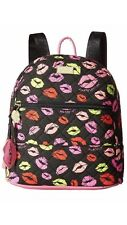 NWT BETSEY JOHNSON BACKPACK LIPS KISS Quilted Bag LBARROW AUTHENTIC $88
