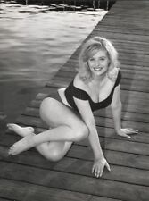 WW2 Photo WWII  World War Two Pinup Girl on Dock  Starlet Hollywood  / 1655