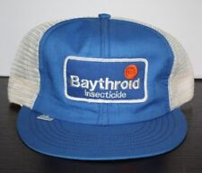 Vintage Baythroid Insecticide Advertising Patch Snapback Hat Usa-Made Farmer Far