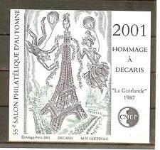 BLOC CNEP NON DENTELE N° 34 A** NON  DENTELE SALON PARIS 2001 DECARIS