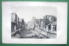 INDIA Agra View of Principal Street - 1858 Antique Print Engraving