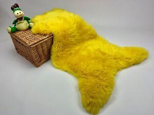 Yellow Sheepskin rug leather 100% Natural made of English Sheep Cowhide Reindeer