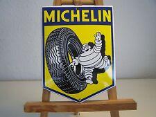Retro Michelin Mann mit Reifen Emalie Schild Werkstatt Vintage Reklame Schild