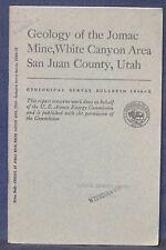 USGS GEOLOGY of the JOMAC URANIUM-COPPER MINE, UTAH 1958 Maps! SCARCE ITEM