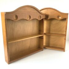 T&G Woodware England Small Slim Wooden Shelves Shabby Chic Upcycle Opportunity