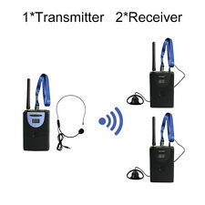 2.4GHz Digital Wireless Tour Guide System(1 transmitter and 2 receivers)