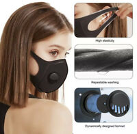 Face Mouth Mask Breath Valve Washable Reuse Unisex Dustproof