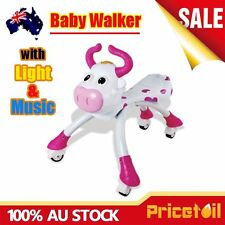 Pink Baby Walker Ride On Toy Child Bike Bicycle Music Light Push Scooter Toddler