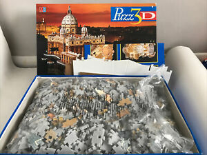 MB Puzz 3D Jigsaw 966 Pieces St Peters Rome - San Pietro Roma Boxed Build Puzzle