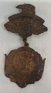 1912 Civil War Los Angeles GAR 46th National Encampment Medal Souvenir Badge