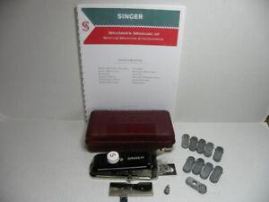 Vintage singer Buttonholer 301 404 401 500 503 with Eyelet & Reference Book