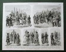 FRANZÖSICHE+NORDDEUTSCHE+RUSSISCHE+ENGLISCHE TRUPPEN 38Ab WAFFE UNIFORM MILITÄR
