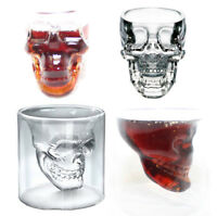 Skull Head Shot Glass 3D Shot Glass Skeleton Double Walled Design Drinking Mugs