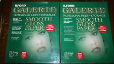 "ILFORD GALERIE PROFESSIONAL INKJET PHOTO RANGE SMOOTH GLOSS PAPER 8.5x11"" 45 CT"