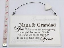 Blessed Nana & Grandad Wall Plaque Christmas Gift Ideas for Grandparents & Her
