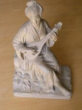Art Nouveau Friedrich Goldscheider France Ceramic Figure Statue Female Musician