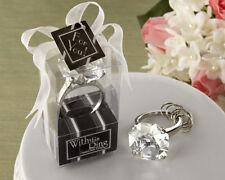 Diamond Ring Keychain Bridal Shower Wedding Favors