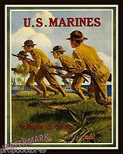 Wall Art  USMC / US Marines  WWI Poster  Soldiers of the Sea 11x14