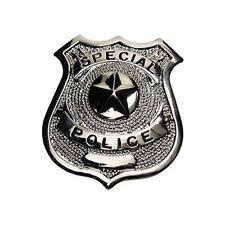 """US POLIZEIABZEICHEN """"SPECIAL POLICE"""" SILBER ANSTECKNADEL ORDEN POLICE"""