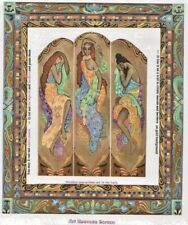 "1:24 scale Natasha Beshenkovsky's Mini Decoupage - Screen in Art Nouveau - 1/2"""