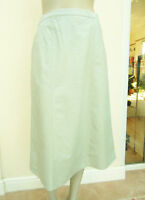 EWM - Womens Light Green Classic Cotton Skirt - Size 12
