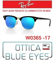 Occhiali da SOLE RAYBAN RB3016 CLUBMASTER REMIX 17 Sunglasses Ray Ban Black Blue