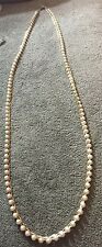 """Vintage  Napier Pearl- Like Beads W/ Gold tone Trim Necklace- 30"""" Long"""