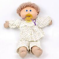 Vintage Cabbage Patch Kid OAA Doll Blonde Brown Hair Pacifier Xavier Roberts