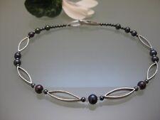 873a939253f2 Schmuck Knoll Halskette Weihnachten Silber kurz Perlen Damen Rosenquarz  Kette