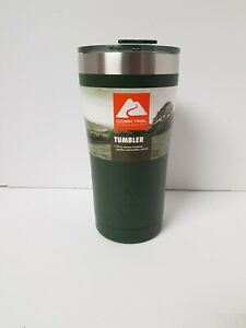 OZARK TRAIL OLIVE DARK GREEN 20oz STAINLESS STEEL TUMBLER WITH CLOSEABLE LID