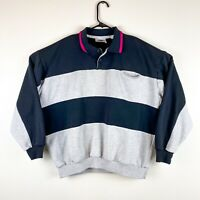 Vintage CLAYBROOKE Sport Color Block sweatshirt Pullover XL / L Rugby Striped