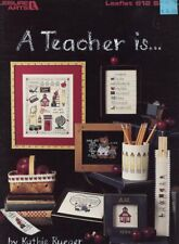 A Teacher Is ... Leisure Arts #612 Cross Stitch Pattern Booklet 4 Designs