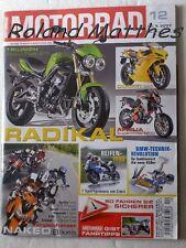MOTORRAD 12-07+MV AGUSTA F4+KAWASAKI ZZR 1400+BMW 450+KTM 990+DUCATI MONSTER