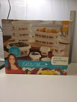 The Pioneer Woman 20 Piece Vintage Floral *White* Food Storage Set