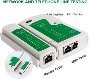 RJ45 Network Cable Tester CAT5e CAT6 RJ11 Ethernet LAN PC Wire Lead Testing Tool