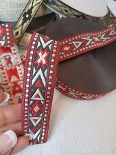 Indian Star Native Jacquard Ribbon, 7/8 inch wide 1 or 5 yards
