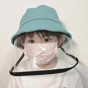 Kids Size Anti Saliva Fisherman Hat Full Face Cover Protective Shield Visor Cap